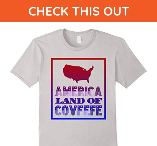 Mens Cool Graphic America Land Of Covfefe Funny Trump T-shirt Medium Silver - Funny shirts (*Amazon Partner-Link)