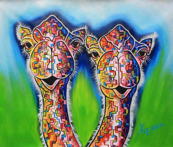Dit schilderij vind ik een mooi schilderij vanwege de felle kleuren die er in voor komen en de - Kleuren schilderij eetkamer ...