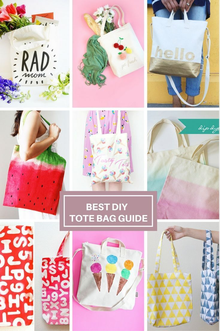 a4905cc3275fee Best round-up to customize a blank canvas tote bag. DIY blank canvas tote  bag decorating and design ideas and tutorials for inspiration.