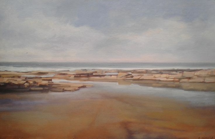 "'Low Tide, Donegal' 32"" x 20"", oil on panel, Morgan Ferriter #Donegal #ireland #paintings #art"