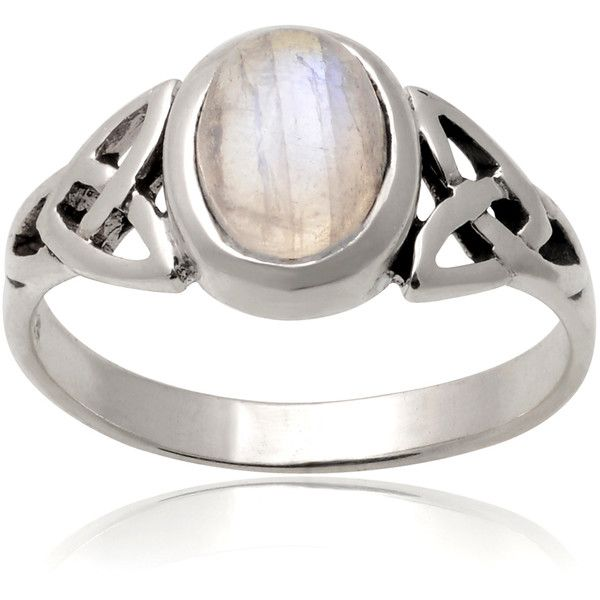 Tressa Collection Sterling Silver Moonstone Celtic Knot Ring ($31) ❤ liked on Polyvore featuring jewelry, rings, celtic jewellery, knot ring, celtic jewelry, celtic knot jewelry and sterling silver jewellery