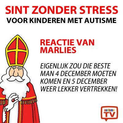 #SintzonderStress ? Een reactie van Marlies! #autisme