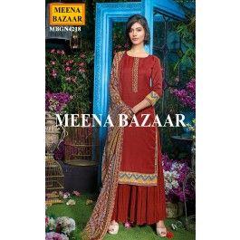 Maroon Pashmina Salwar Suit