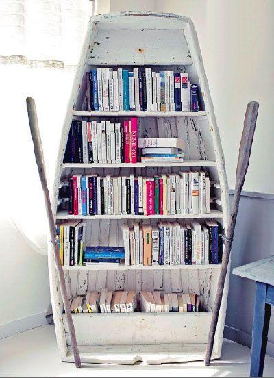 DIY Shelves Ideas : Upcycle Us: Upcycling old boat into bookshelf