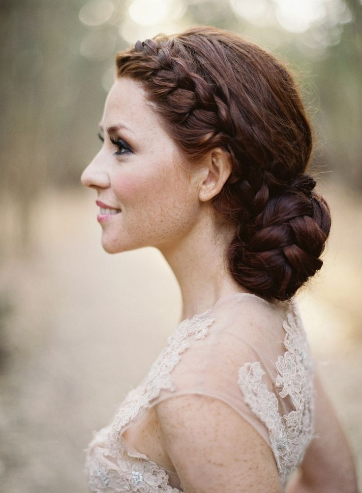 So soft and romantic... and ever so slightly boho  ~ we ❤ this!  moncheribridals.com ~ #weddinghair #bridalhair