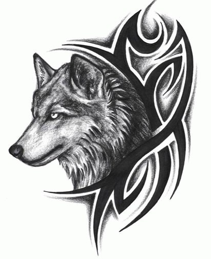 free design wolf tattoo 5 black white grey pinterest wolves wolf tattoos and free design. Black Bedroom Furniture Sets. Home Design Ideas