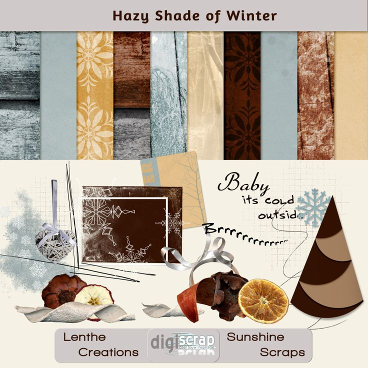 Digiscrap Uitdaging december / januari | Hazy Shade of Winter - Digiscrap Digitaal scrappen