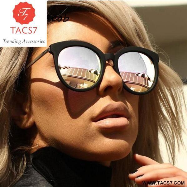 8c6505e61d8 Hot Vintage Cat Eye Gradient Brand Designer Retro Mirror Sunglasses  Trending Accessories
