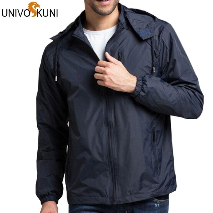 19.99$  Watch more here - UNIVOS KUNI   4XL Spring Summer Mens Sportwear New Thin Military Windbreaker Outdoors Hooded Fashion Zipper Jackets Z2206   #bestbuy