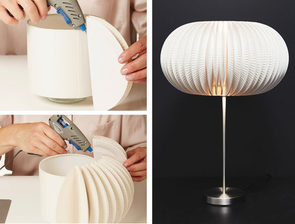 lamp-from-paper-plates