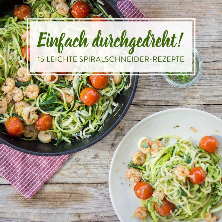 Zucchini, Gurken und Karotten - diese 15 leichten Spiralschneider-Rezepte, bringen einach alles mit, was du für eine gesunde Low-Carb-Ernährung brauchst.