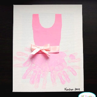 Kids Hand paint ballerina