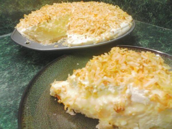 Unbelievable lemon coconut pie