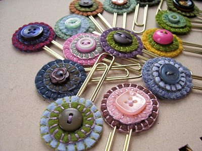 Bookmarks made with old buttons