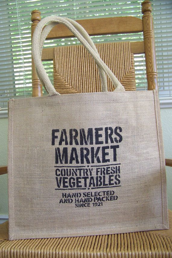 This fun, reusable and Eco friendly burlap tote bag has sturdy jute covered handles. The bag is lined in water resistant plastic. Hand made