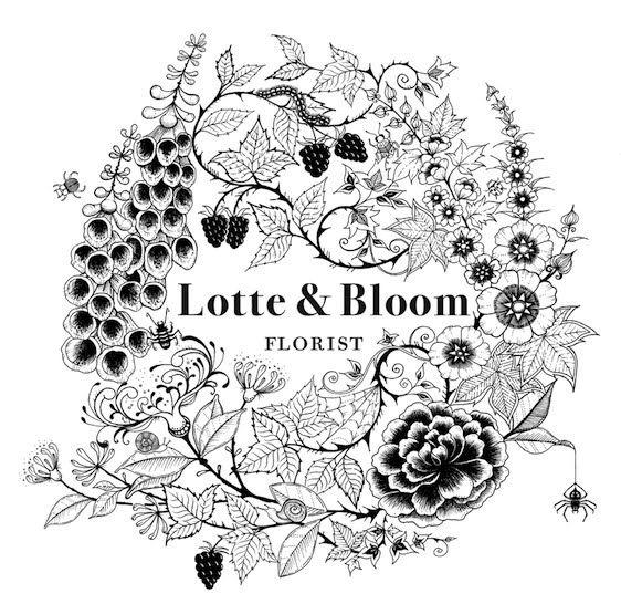 Love the border!A Flower Shop Font, Florist Logo Design, Flower Shop Logo, Illustration, Florists Logos, Graphics Design, Bloom Florists, Floral, Bloom Logo