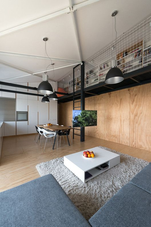 Modern Industrial Loft Apartment In Bratislava Showcases Space Savvy Design