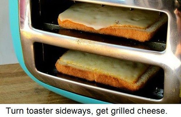 You Can Make Grilled Cheese in Your Toaster | Community Post: 32 Bachelor Hacks That Will Improve Everyone's Lives
