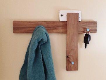 Coat Rack Key Rack Mail Organizer Modern Design by Mod-Rak midcentury