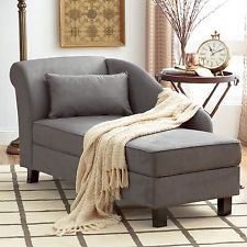 Chaise Lounge Indoor Chair Storage Bedroom Living Room Sofa Lounge Chair  Seat