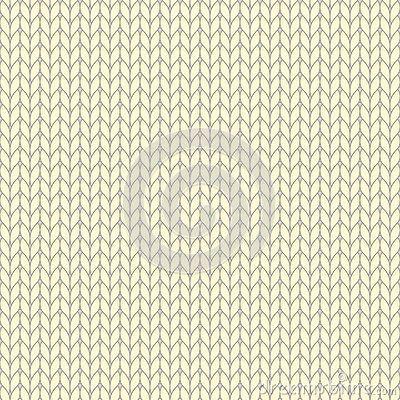 Yellow pastel knitted seamless pattern, knit stockinette stitch