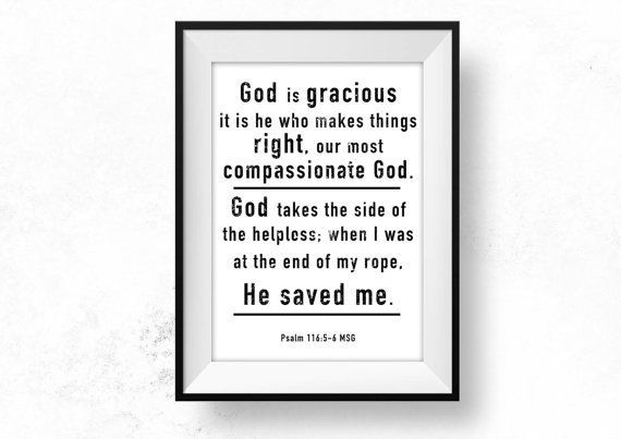 Grace Bible Verse Wall Art Printable Christian by HearMeRoarQuotes