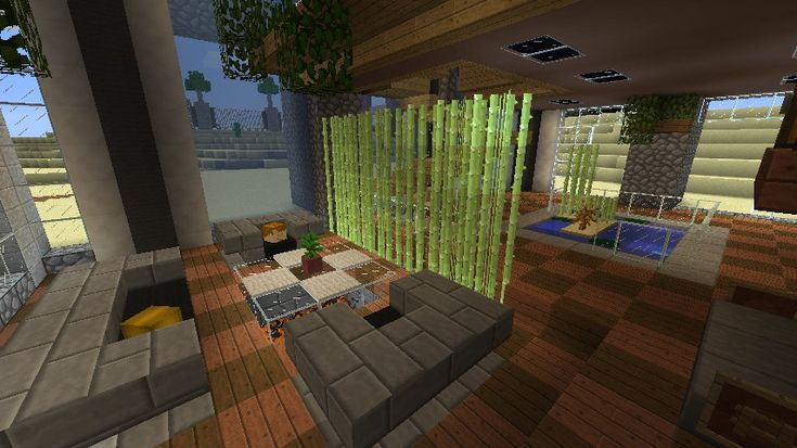 Minecraft Furniture - Decoration - the sugar cane room diving screen.