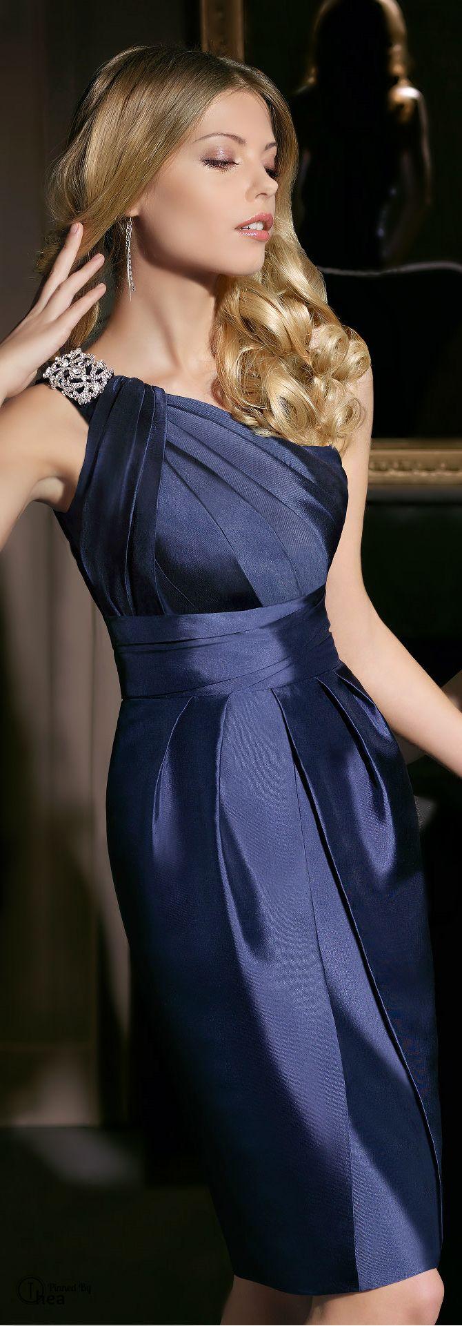 vestido fiesta azul