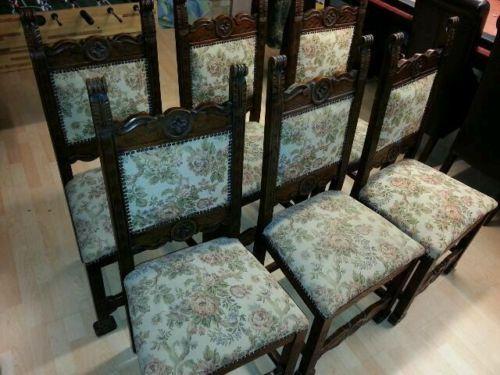 6 X Antike Stühle