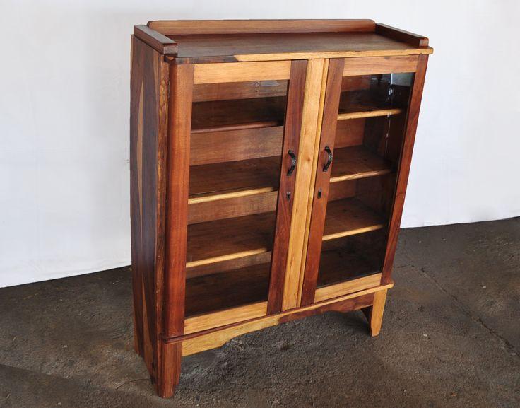 South African Kiaat Bookcase SABC#1 www.northcliffantiques.com