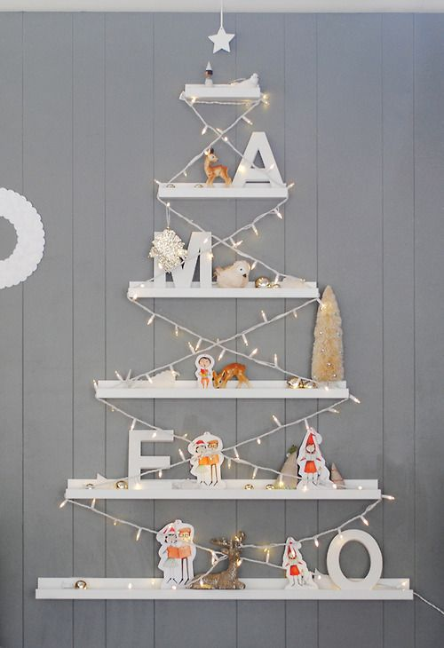 Made from IKEA ledges, Wow this looks amazing! Definitely my favourite non traditional DIY Christmas tree that I have come across.
