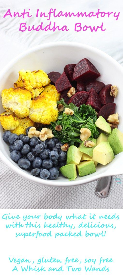 Anti Inflammatory Buddha Bowl, whole food nutrition at it's best!