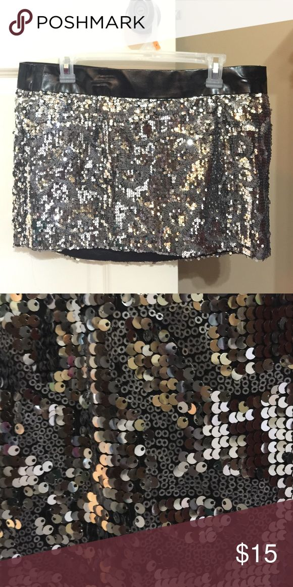 Sequin mini skirt This skirt is great for making a statement.⭐️ bebe Skirts Mini