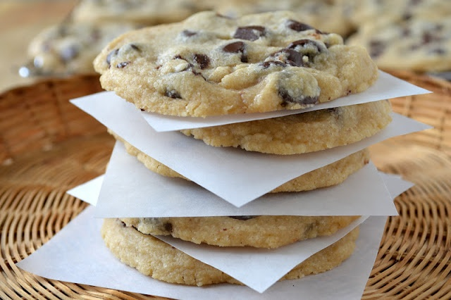 Espresso Chocolate Chip Shortbread Cookies Recipe — Dishmaps