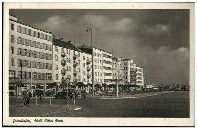 Gotenhafen Adolf Hitler Platz Gdynia Skwer Kościuszki Wyd. Julius Simonsen Oldenburg in Holstein Kartka wysłana 15.07.1941