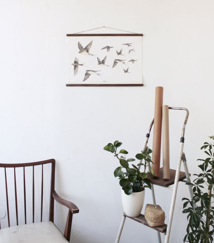 The Swallows posters reminding us of spring and warmer days to come! #arminho #etsy #etsyshop #birds #poster #handmade