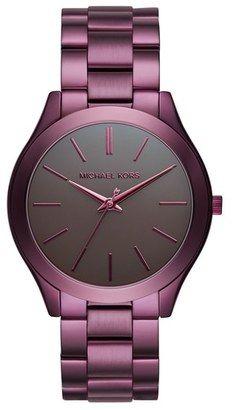 MICHAEL Michael Kors 'Slim Runway' Bracelet Watch 42mm #watches #womens