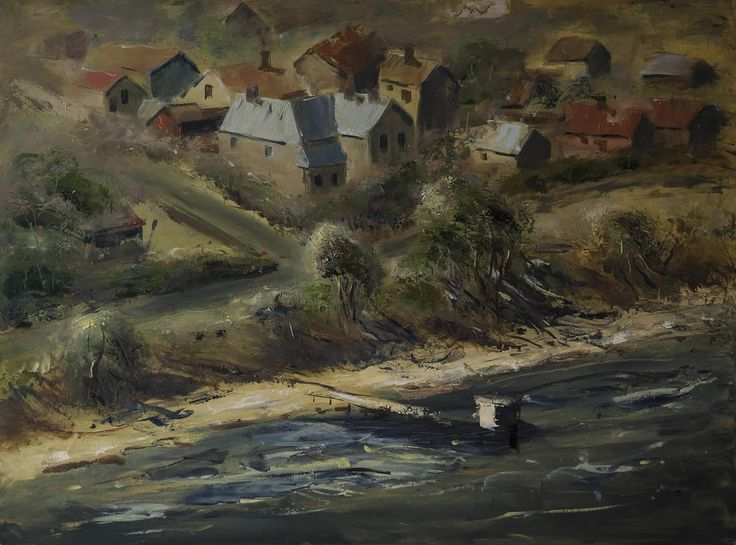 Bellerive by John Hodgman. 2015. Oil on canvas. 91 x 122cm. $3000. ($250/month interest free with COLLECT)