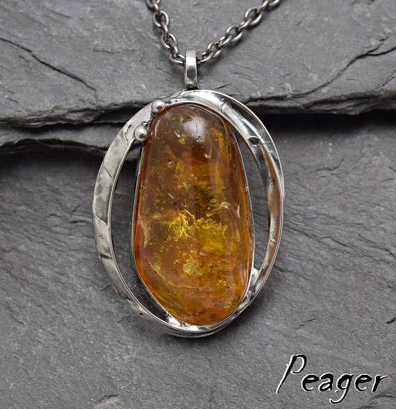 Amber pendantFossils pendantFossils AmberYellow