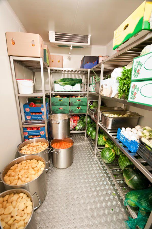 Walk In Refrigerator Cooler Interior Of A Restaurant Or Hotel Walk In Refrigera Spon Inte Refrigerator Cooler Bakery Kitchen Restaurant Kitchen Equipment