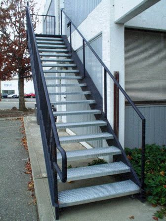 Concrete Treads With Open Risers Ironesque Inc Steel