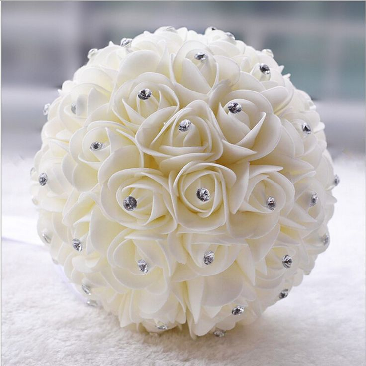 Mooie Bruids Flower bruidsboeket kunstbloem rose boeket Crystal bruidsboeketten in beginnenKunstmatige roze bloemen bruiloft bloemen bruidsmeisje...Prijs:30,00 dollar2015 1 hoepel petticoat groothandel z van bruiloft boeketten op AliExpress.com | Alibaba Groep