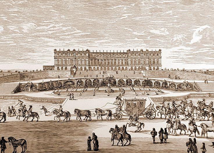 Israel Silvestre. Vista del palacio de Versalles con la fachada de Le Vau y los jardines de Le Notre, 16669