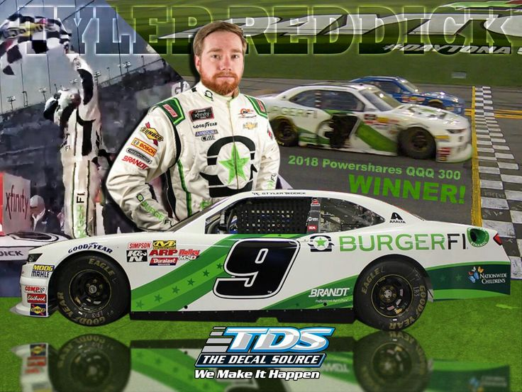 Tyler Reddick wins the Xfinity Series Daytona Opener in his first race of his rookie year 2018 for Jr Motorsports