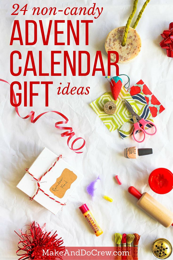 Easy, inexpensive Christmas advent calendar gift ideas that AREN'T candy!   MakeAndDoCrew.com