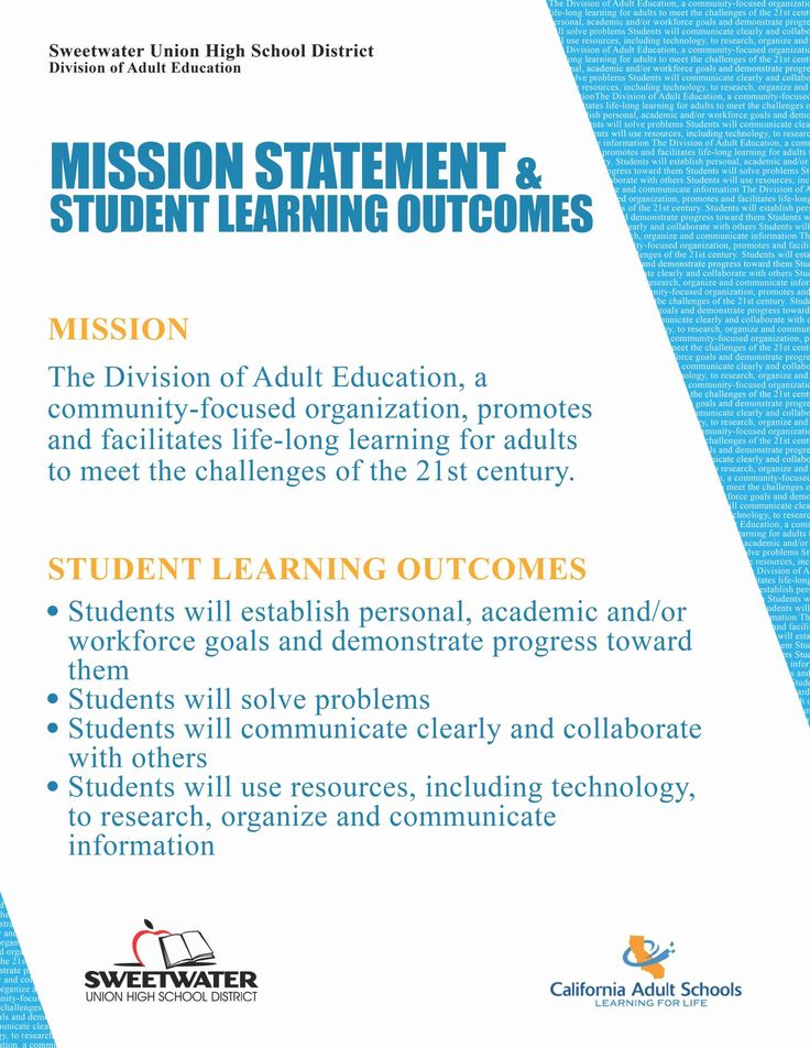 Mission Statement Examples for Students New Personal