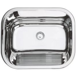 Tanque de encaixe em aço inox polido 55x45 cm - TRAMONTINA - R$277,96 à vista ou R$318,40 em até 6x