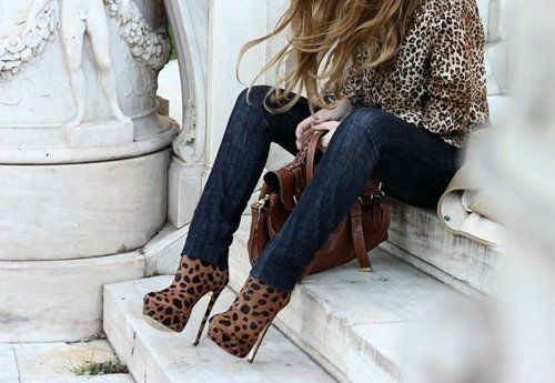 animal print outfit #shoes