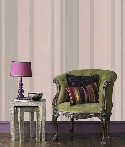 Tesco direct: Graham & Brown Stripe Wallpaper - Taupe