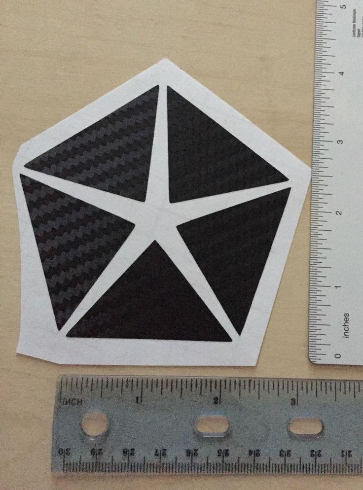 Mopar Pentastar 3D Carbon Fiber Vinyl Decal 4 Inches Tall FREE SHIPPING    eBay